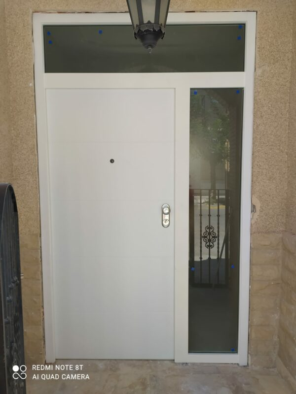 Dierre Asso 10 en PVC blanco con fijo lateral y superior para cristal